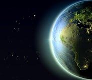 Europa y África de la órbita libre illustration