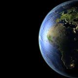 Europa y África de la órbita stock de ilustración