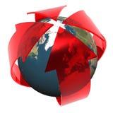 Europa y calentamiento del planeta Imagen de archivo libre de regalías