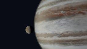 Europa y Júpiter almacen de metraje de vídeo