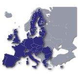 Europa y sus miembros euro Fotos de archivo libres de regalías