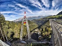 Europabruecke, European bridge in alps Royalty Free Stock Photos