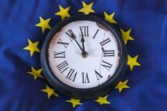 Europaflagge с часами Стоковое Изображение