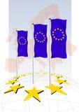 europaillustration Vektor Illustrationer