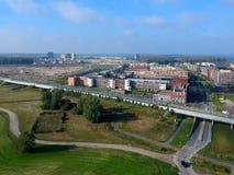 Europakwartier, Almere Poort, Flevolanda, los Países Bajos Fotos de archivo