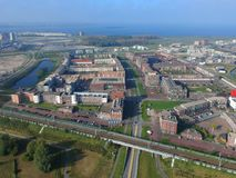 Europalaan in Europakwartier, Almere Poort Fotografia Stock Libera da Diritti