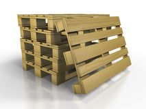 Europallets Royalty Free Stock Photo