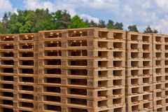 Europallets Stock Image
