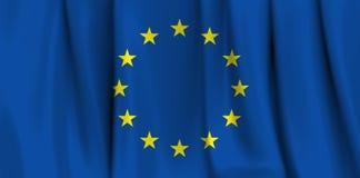 Europamarkierungsfahne Stockbild