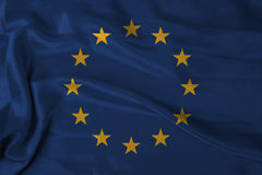 Europamarkierungsfahne Stockfoto