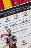 EUROPAMEISTERSCHAFT FIM CEV REPSOL - MOTO 3 RIDER ARON CANET Lizenzfreies Stockbild