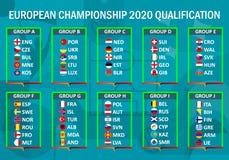 Europameisterschaft 2020 qualifikation lizenzfreie abbildung