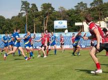 Europameisterschaft Ukraine - Norwegen, Rugby lizenzfreie stockbilder
