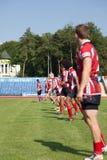Europameisterschaft Ukraine - Norwegen, Rugby Lizenzfreies Stockbild