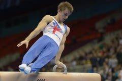 5. Europameisterschaften in der künstlerischen Gymnastik Stockbilder