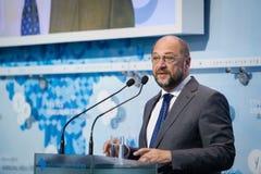 Europaparlamentetpresident Martin Schulz Fotografering för Bildbyråer