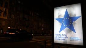 Europaparlamentetval 2019 med Donald Trump allusioner stock video
