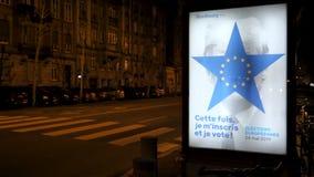 Europaparlamentetval 2019 med Donald Trump allusioner arkivfilmer