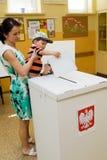 Europaparlamentetval, 2014 (Polen) Royaltyfria Foton