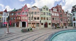 Europaplatz in der Stadt Komarno, Slowakei Lizenzfreie Stockfotos