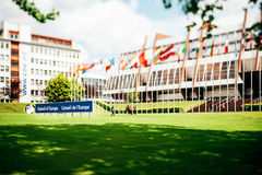 Europarådetbyggnad Arkivfoton