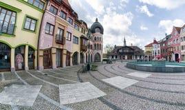 Europaställe i staden Komarno, Slovakien royaltyfri bild