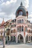 Europaställe i staden Komarno, Slovakien Arkivbilder