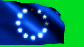 Europaunion flag. Background HD 1080i stock footage