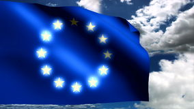 Europaunion flag. Background HD 1080i stock video footage