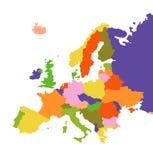 Europavektorabbildung Stockfoto