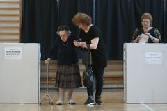 European election in Bucharest, Romania