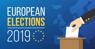 Europawahlen 2019 lizenzfreie abbildung