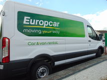 Europcar范 库存照片