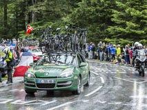 Europcar队-环法自行车赛汽车2014年 免版税图库摄影