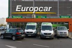 Europcar é uma empresa do aluguer de carros possuída por Eurazeo Foto de Stock
