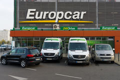 Europcar is a car rental company owned by Eurazeo Stock Photo