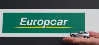 Europcar-Miete Lizenzfreies Stockfoto