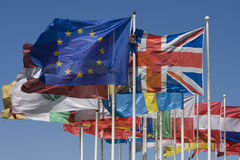 Europe. Flags of the european community Stock Photo