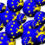 Europe. Euro globes with the flag of the european union Royalty Free Stock Image