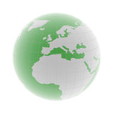 Europe on 3d globe Royalty Free Stock Images