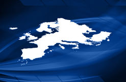 Europe 3D map. On blue background Stock Photos