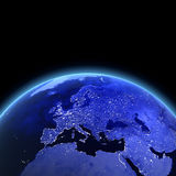 Europe 3d render. Maps from NASA imagery Stock Photos