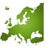 Europe. The continent europe stock illustration