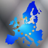 Europe. An map with flag colors on a nuanced background Royalty Free Stock Image