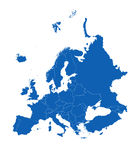 Europe. Map of the europe continent Royalty Free Stock Image