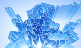 Europe abstract 3D background Stock Image