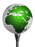 Europe and africa continent on golf ball Royalty Free Stock Photography