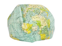 Europe and Africa. Deflated earth globe. Royalty Free Stock Photos