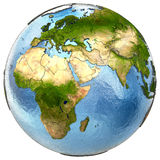 Europe and Africa on Earth Royalty Free Stock Photo