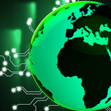 Europe Africa Globe Represents Globalisation Globalize And Count Royalty Free Stock Photos